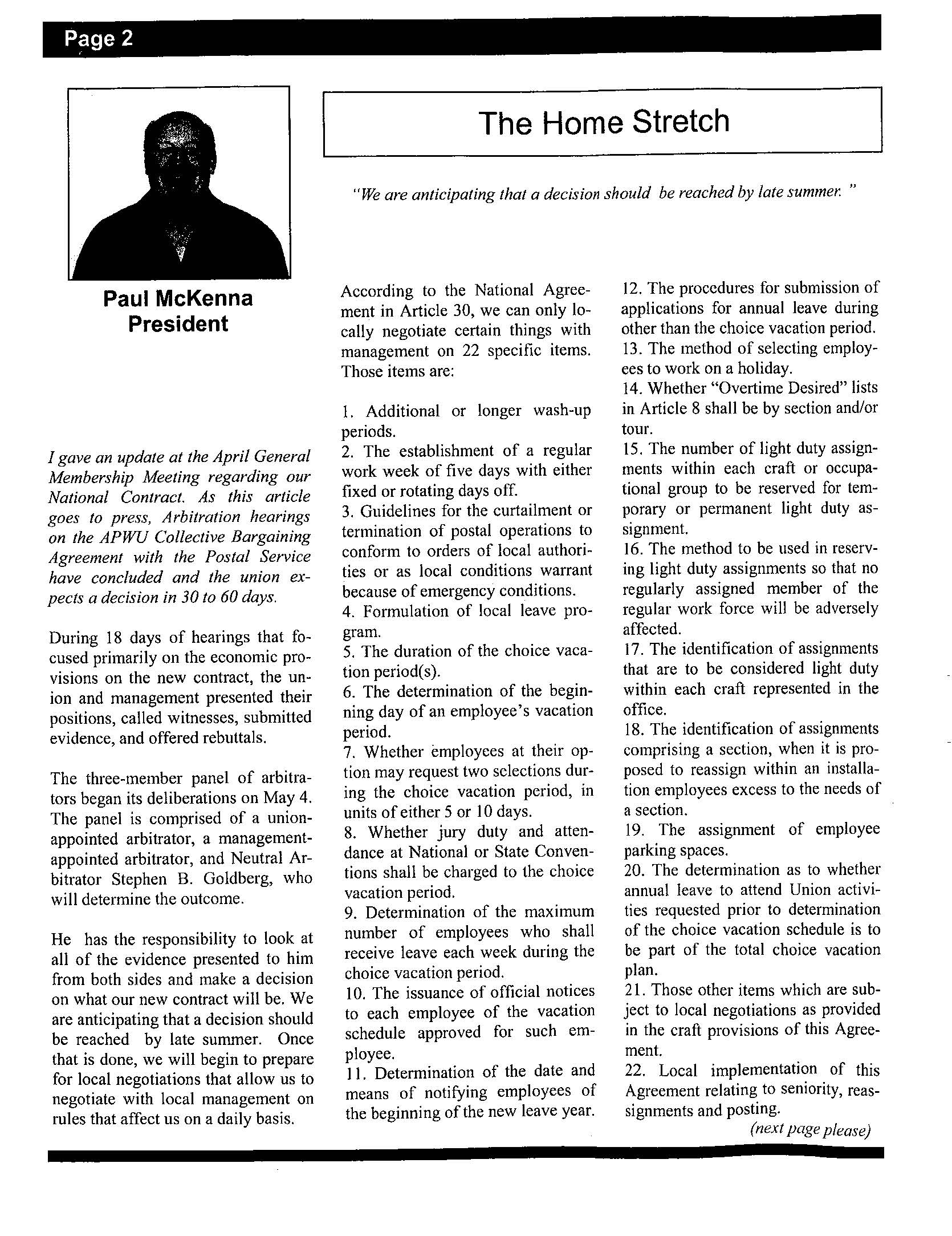 Hilites Newsletter Vol 38 Issue 5page02 American Postal
