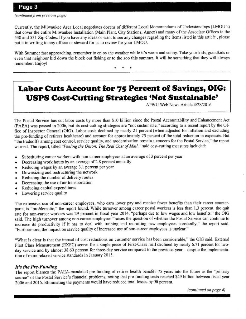 hilites newsletter - vol 38 issue 5_Page_03 • American Postal